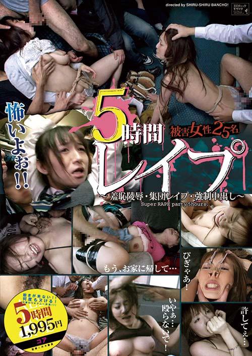 5時間 レイプ 被害女性25名 ~羞恥陵辱・集団レイプ・強制中出し~